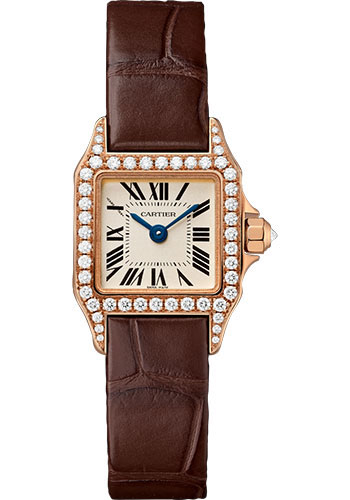 Cartier Santos Demoisselle Small Ladies Quartz in Rose Gold