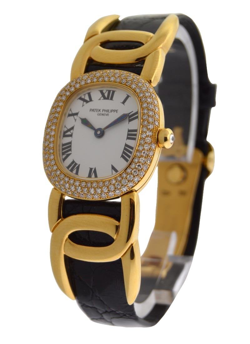 Patek Philippe Ellipse  in Yellow Gold with Diamond Bezel