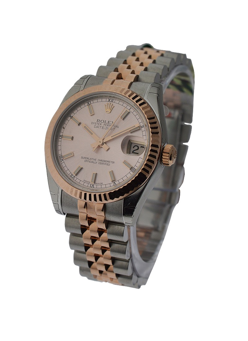 Rolex Unworn Mid Size Steel and Rose Gold Datejust