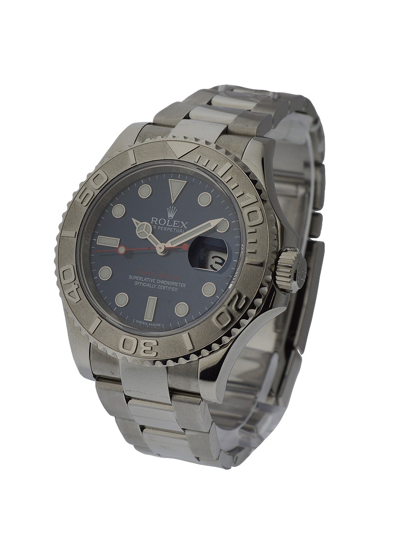 Rolex Used  Yachtmaster Steel with Blue Dial