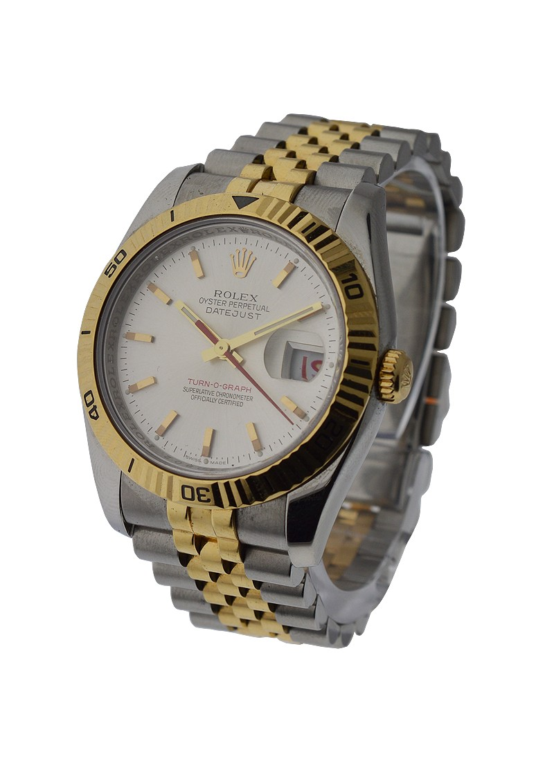 Rolex Used Datejust 36mm in Steel with Yellow Gold Turn O Graph Bezel