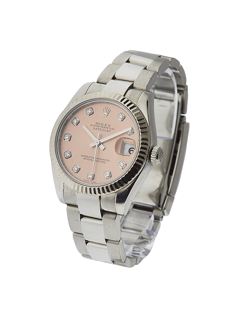 Rolex Used Steel Mid Size Datejust 178274 with Oyster Bracelet