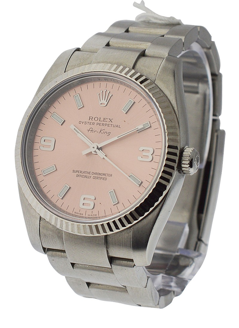 Rolex Used Airking New Style in Steel with Fluted Bezel