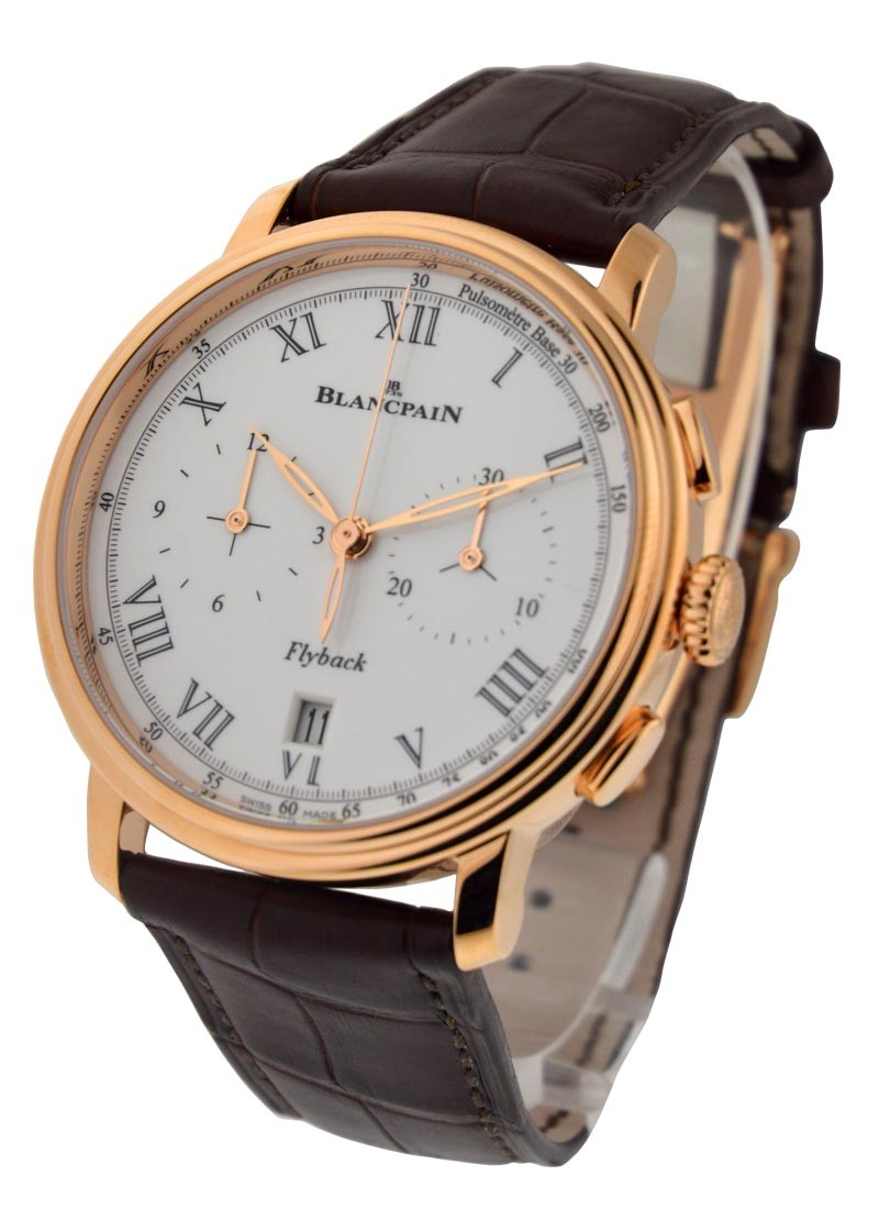 Blancpain Villeret Chronograph Pulsometre in Rose Gold