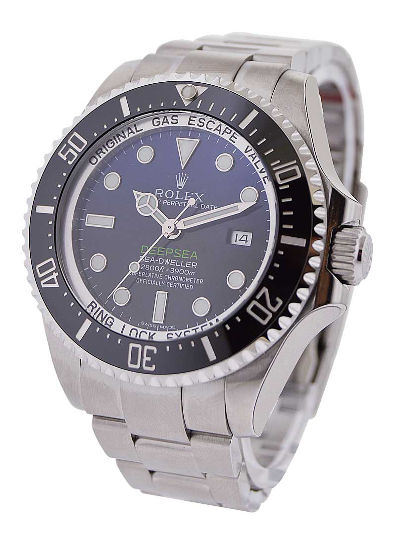 Pre-Owned Rolex Sea Dweller Deep Sea in Steel with Blue Dial