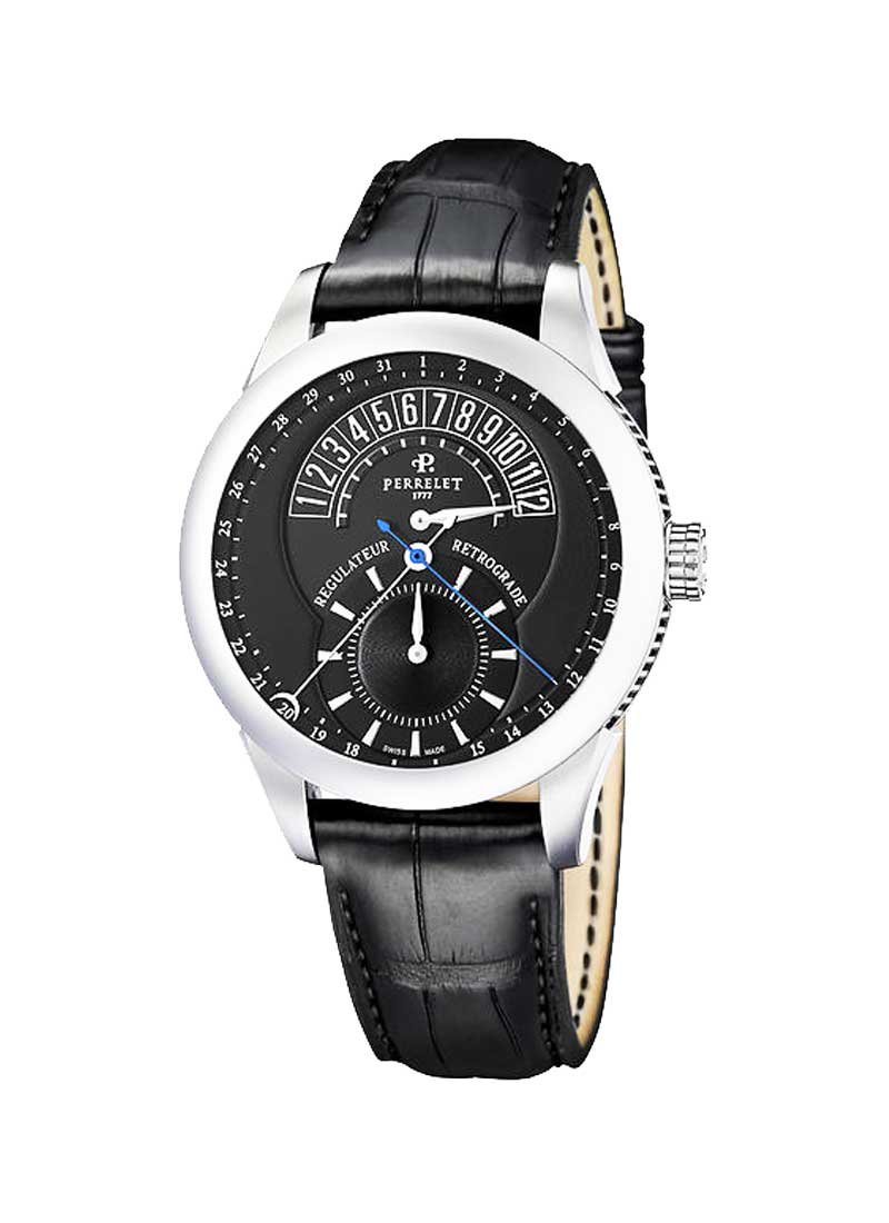 Perrelet Regulateur Retrograde Hour Watch and Steel