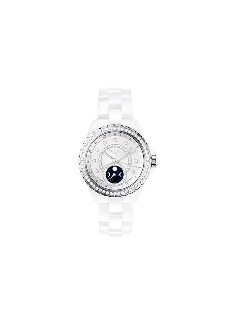 Chanel J12 Moonphase Ladies 38mm Automatic - White Ceramic