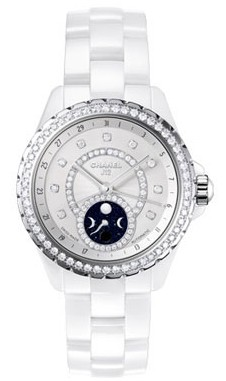 Chanel J12 Moonphase Ladies 38mm Automatic   White Ceramic
