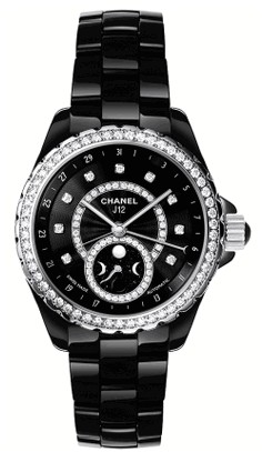 Chanel J12 Moonphase Ladies 38mm Automatic   Black Ceramic