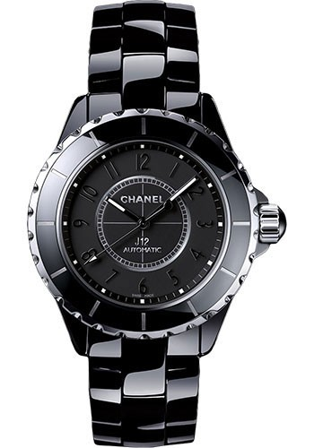 Chanel J12 38mm Quartz in Black Ceramic