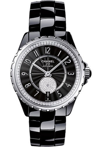 Chanel J12 Automatic in Black Ceramic with Diamond Bezel