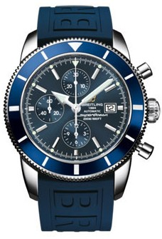 Breitling Superocean Heritage Chronograph in Steel with Blue Bezel