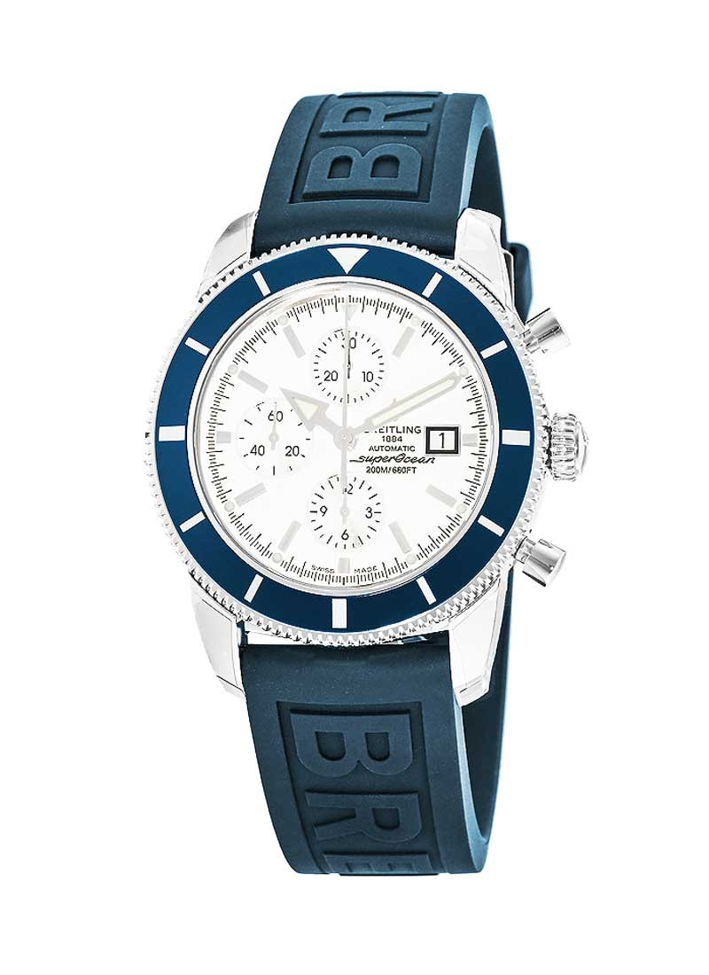 Breitling Superocean Chronographe Heritage in Steel with Blue Bezel