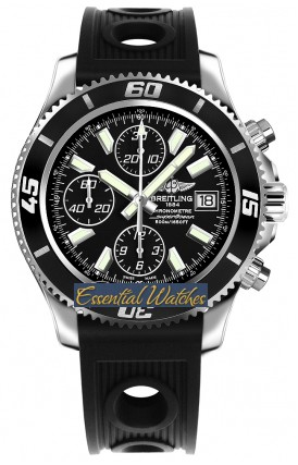 Breitling Superocean Abyss Chronograph II in Steel with Black Bezel