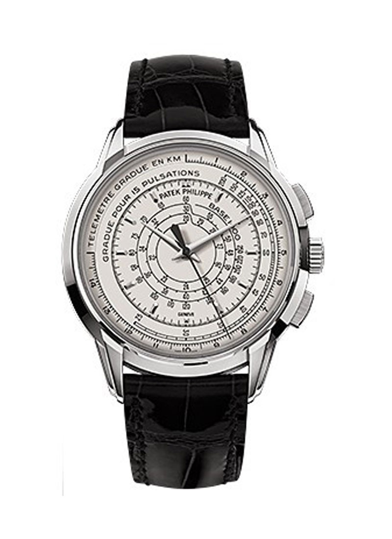 Patek Philippe 175 Anniversary Multi-scale Chronograph 5975G in White Gold
