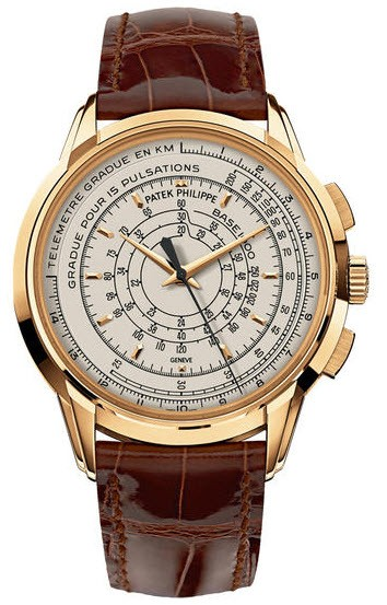Patek Philippe Multi scale Chronograph 5975J in Yellow Gold