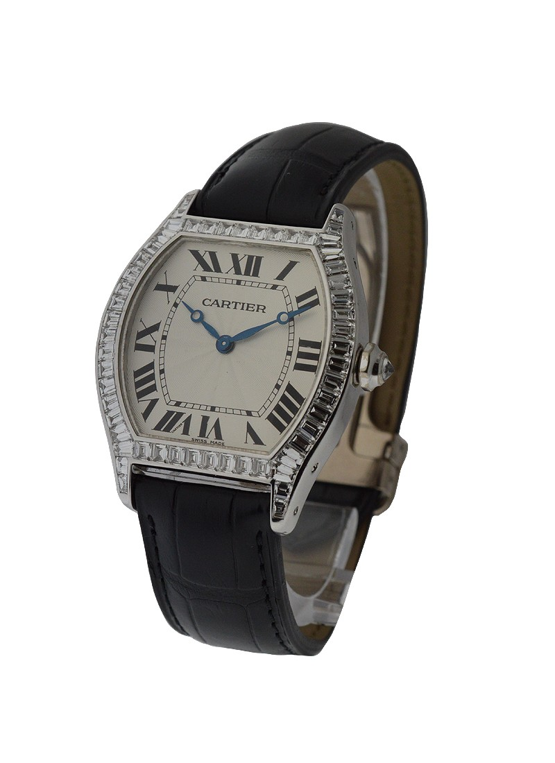 Cartier Tortue Large Size with Baguette Bezel