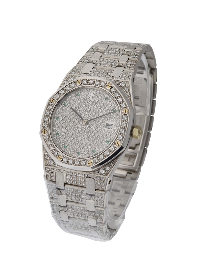 Audemars Piguet Royal Oak 36mm Automatic with Full Diamond Pave