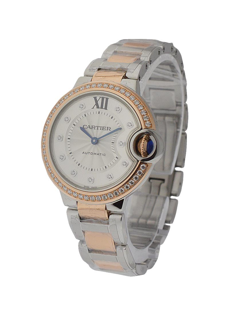 Cartier Ballon Bleu 2 Tone 36mm with Diamond Bezel