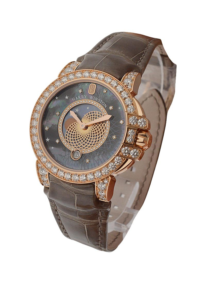Harry Winston Ocean Lady Monphase Quartz in Rose Gold   Diamonds
