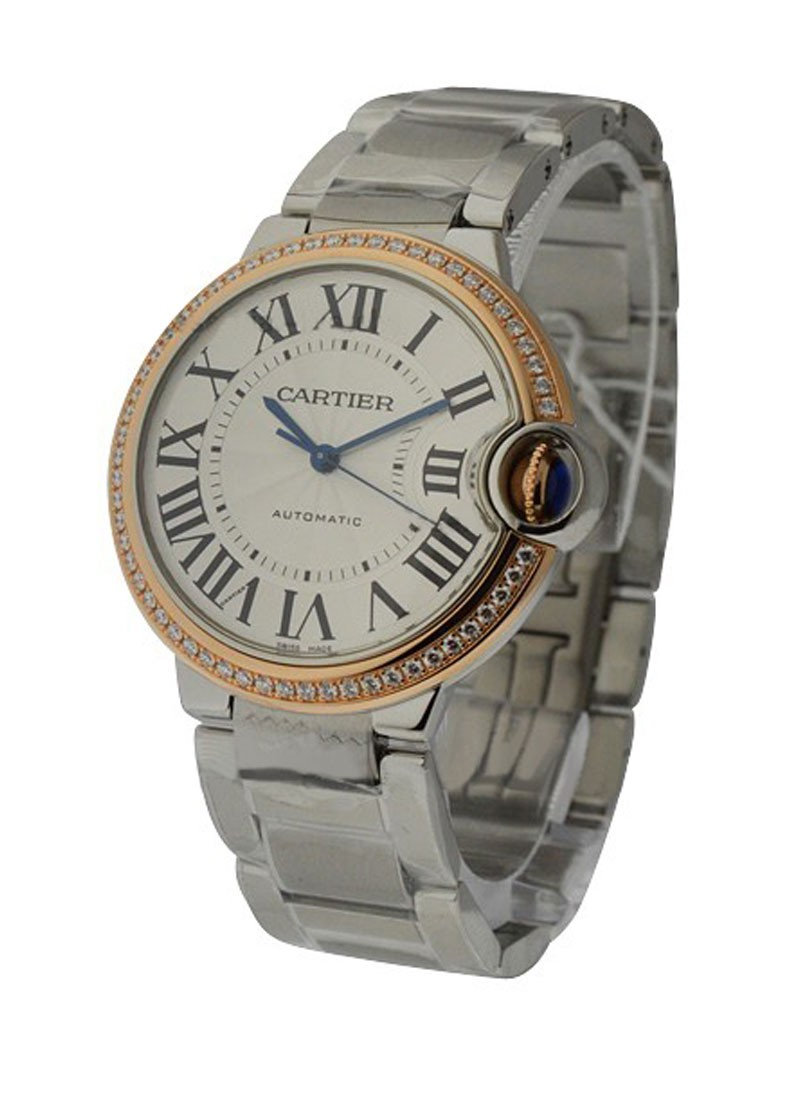 Cartier Ballon Bleu 36mm Steel and Rose Gold