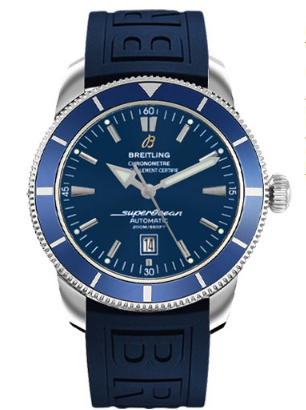 Breitling Superocean Heritage in Steel with Blue Bezel