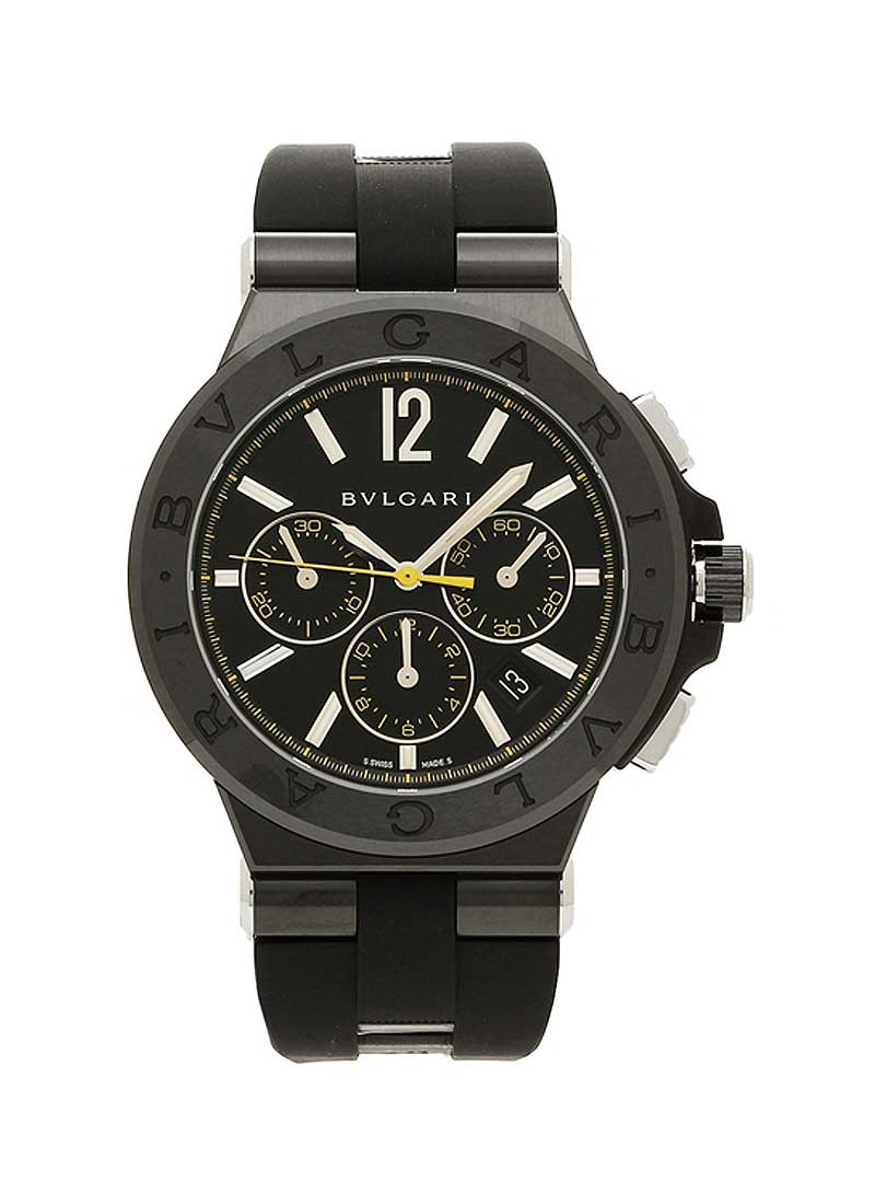 Bvlgari Diagono Ultranero Chronograph in Steel
