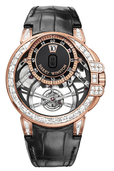 Harry Winston Ocean Tourbillon Jumping Hour with Baguette Diamonds