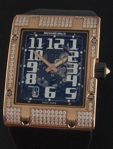 Richard Mille RM016 Ultra Flat in Rose Gold with Diamond Case