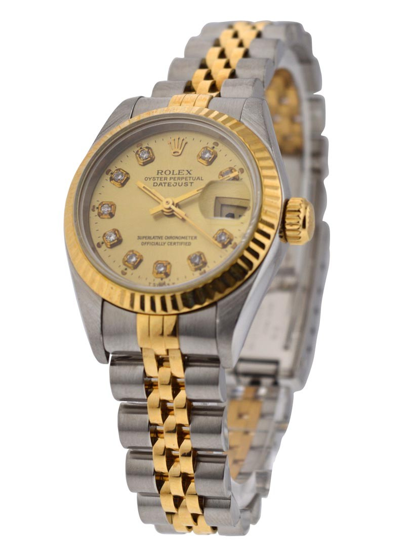 Rolex Used Ladys 2 Tone Datejust with Jubilee Bracelet Ref 69173