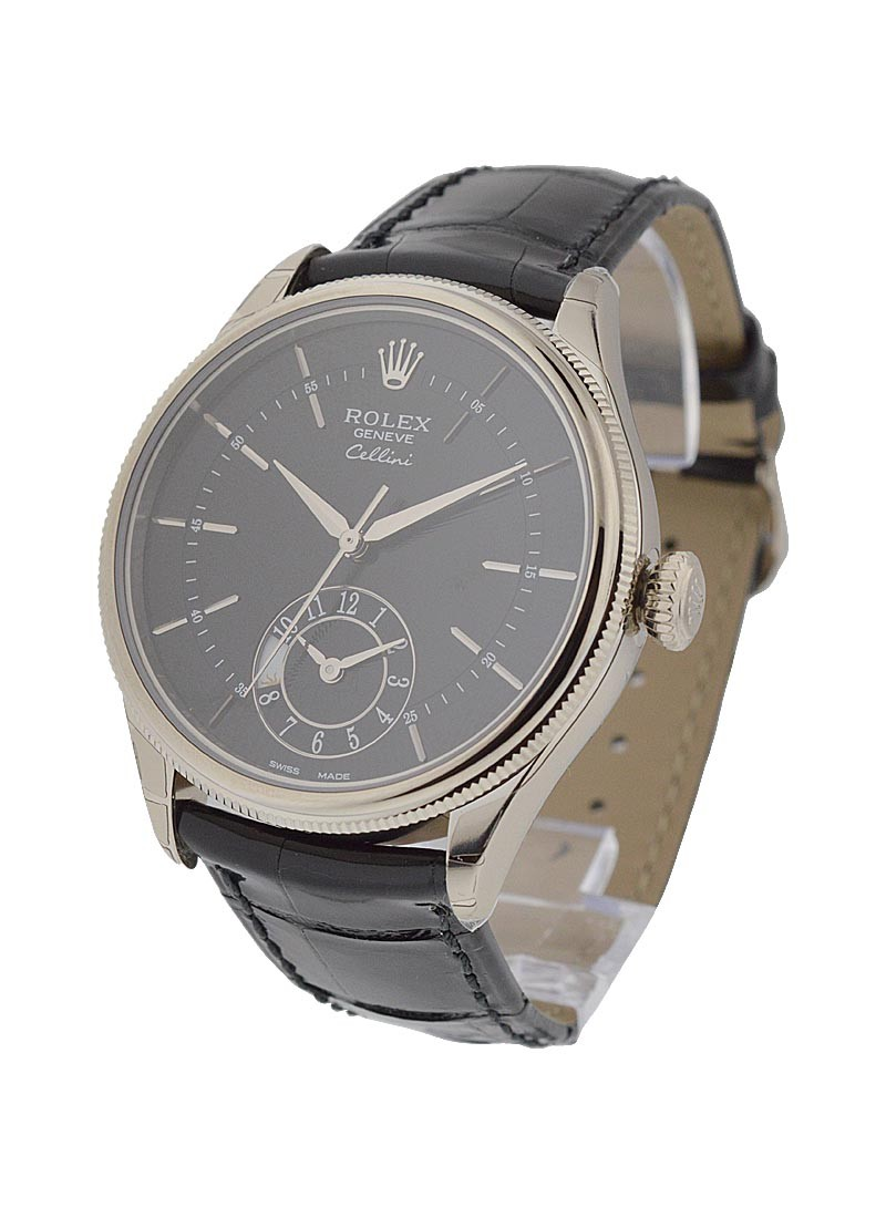 Rolex Unworn Cellini Dual Time in White Gold