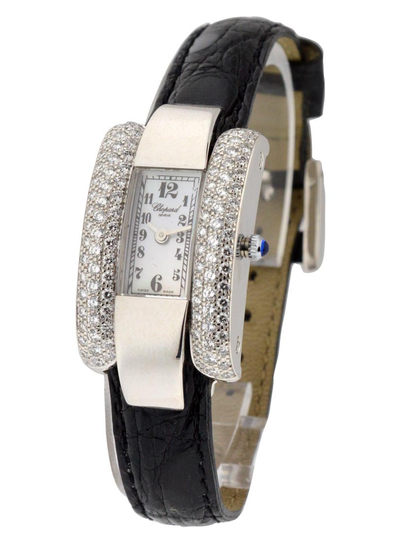 Chopard La Strada in White Gold  with Partial Diamond Case