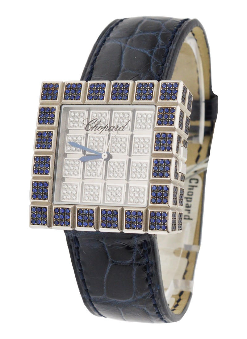 Chopard Ice Cube Full Pave with Sapphires and Diamonds