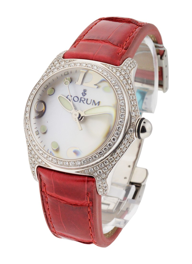 Corum Mid Size White Gold Bubble
