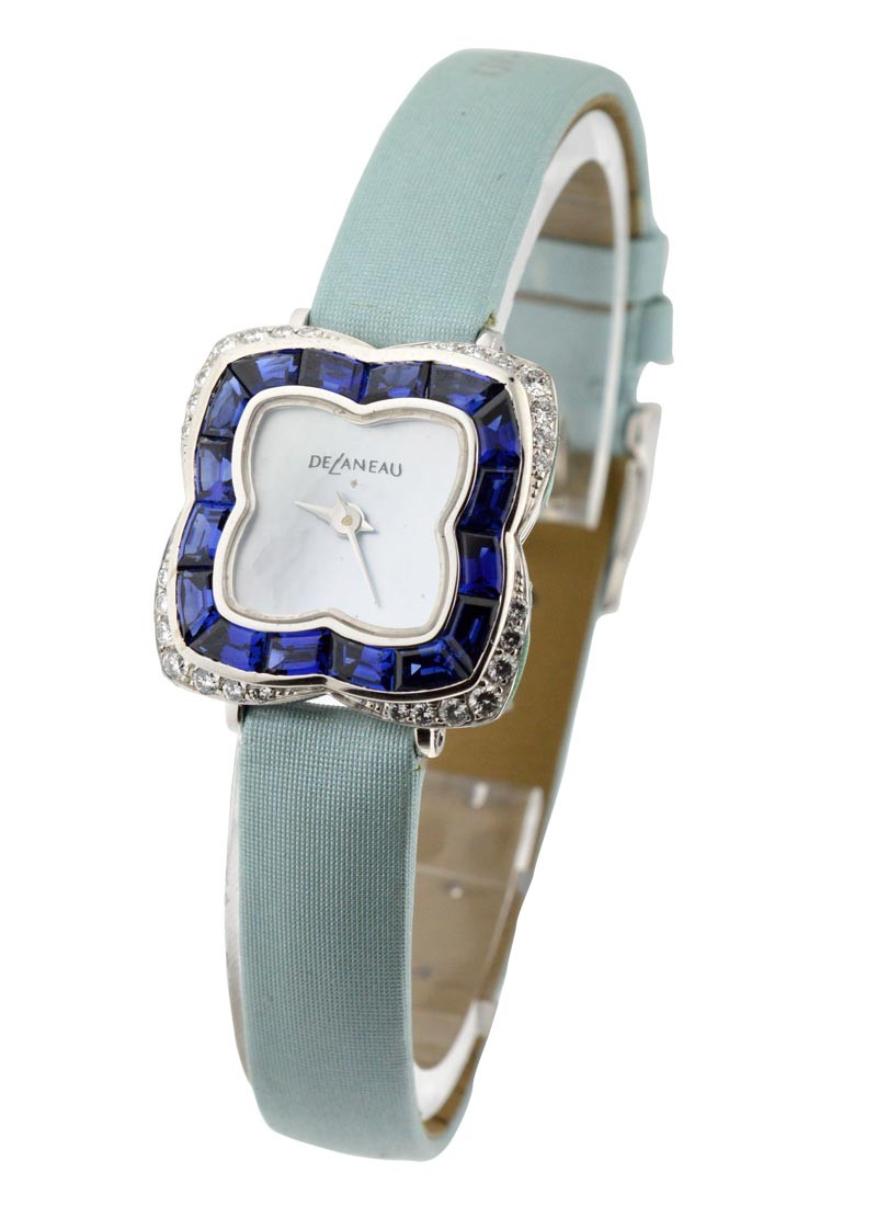 Delaneau Baby Butterfly with Sapphire and Diamond Bezel