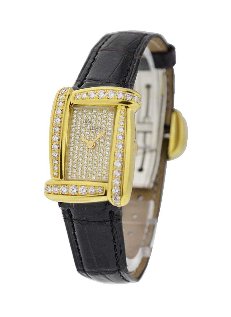 Henry Dunay Sabi in Yellow Gold with Diamond Bezel