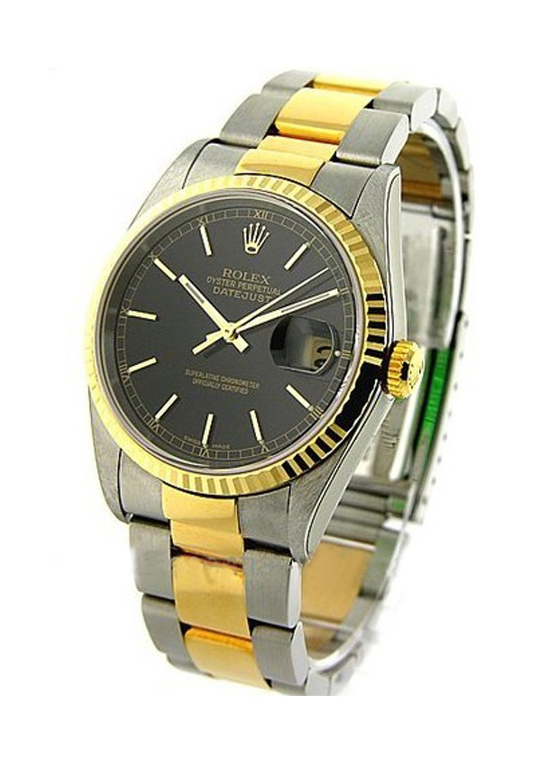 Rolex Used  Datejust 2 Tone Yellow Gold with Oyster Bracelet