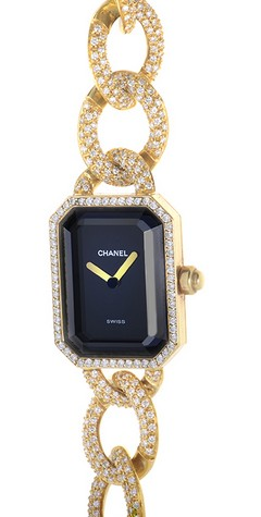 Chanel Premiere Ladies  Quartz in Yellow Gold on Diamond Bracelet