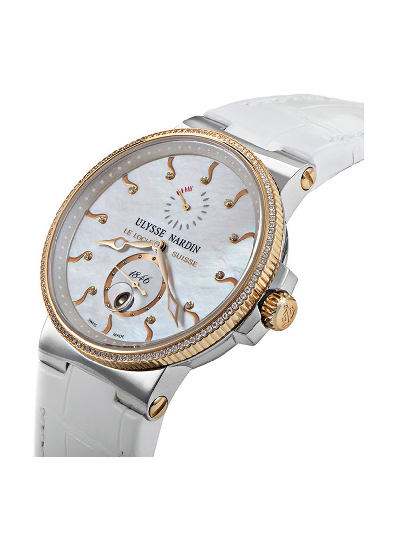 Ulysse Nardin Maxi Marine Chronometer Two Tone with Diamond Bezel