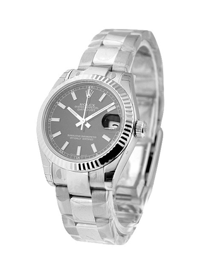 Datejust in Steel with Fluted Bezel