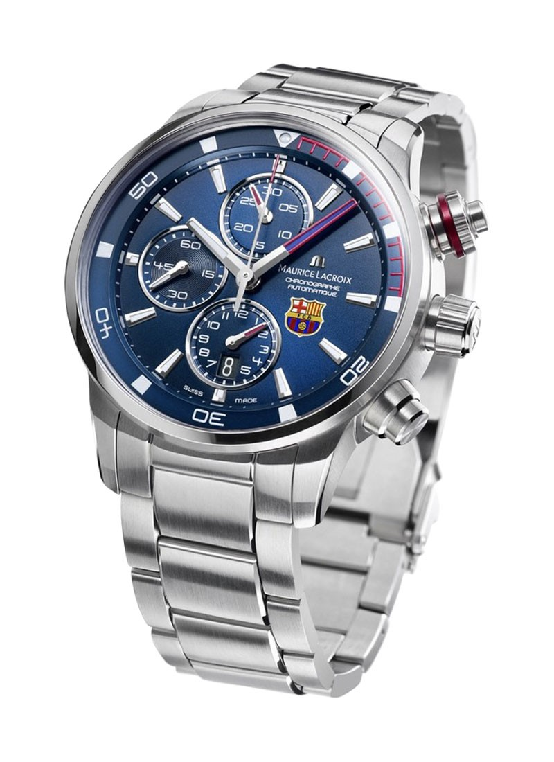 Maurice Lacroix Pontos S FC Barcelona Official Special Edition in Steel