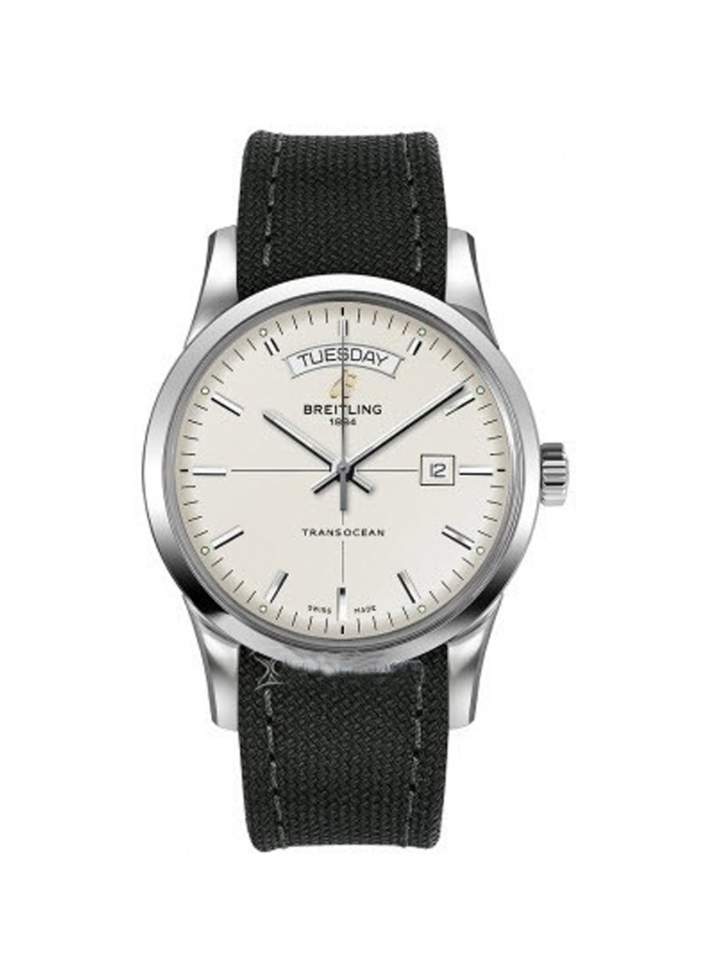 Breitling Transocean Day Date Series Men's Automatic in Steel