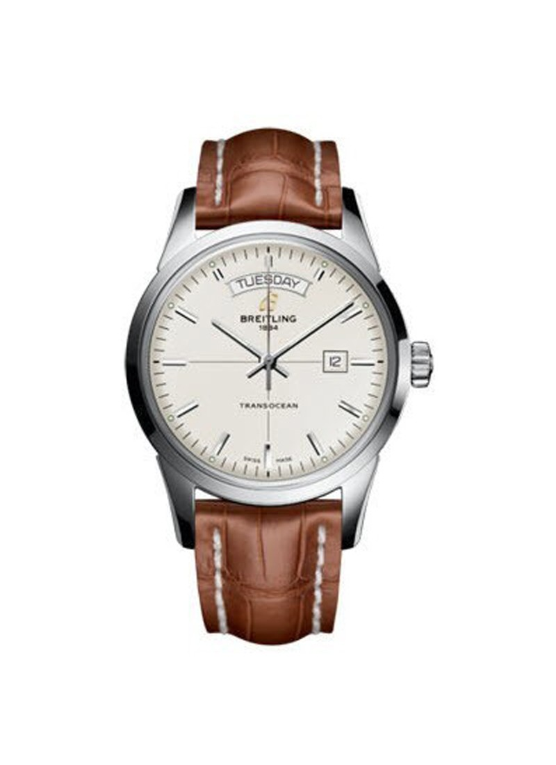 Breitling Transocean Day Date Automatic in Steel