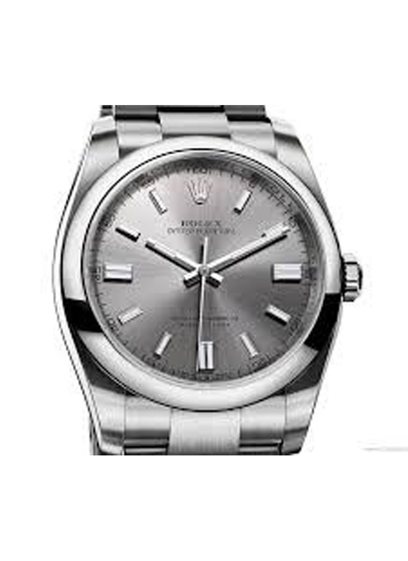 Rolex Unworn Mens Oyster Perpetual No Date in Steel with Domed Bezel