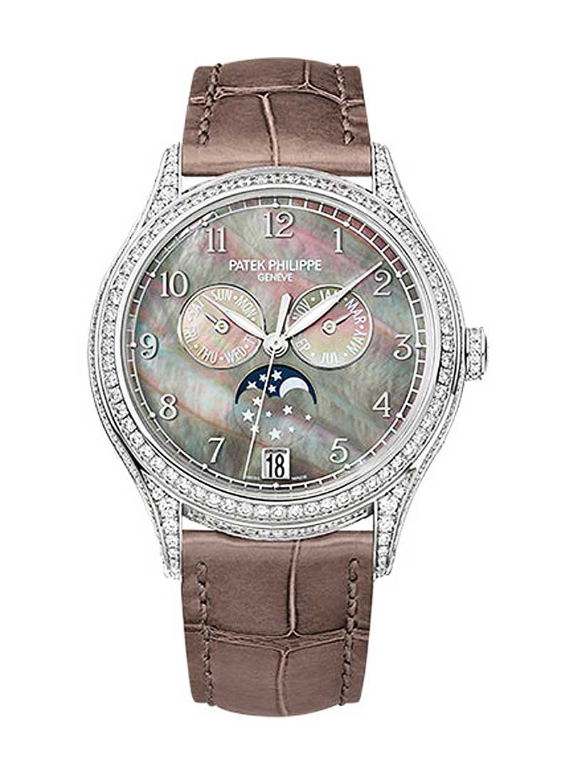 Patek Philippe Complications Ref 4948G-001 in White Gold with Diamond Bezel