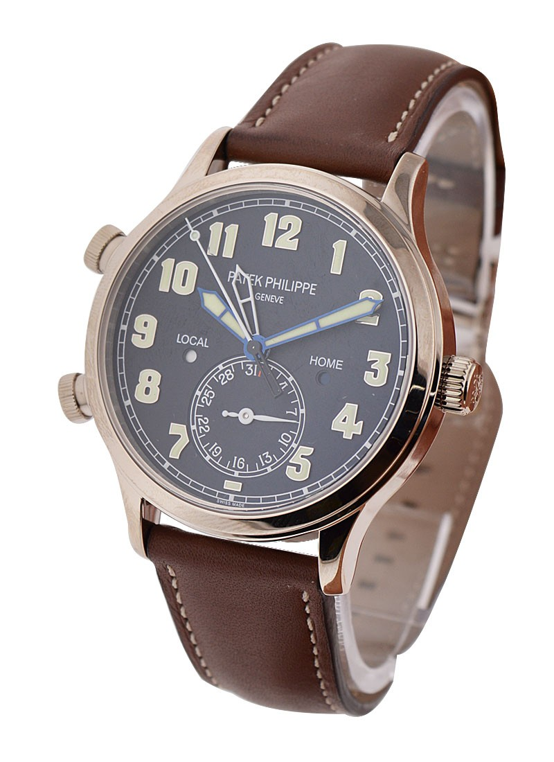 Patek Philippe Calatrava Pilots Travel Time 5524G in White Gold