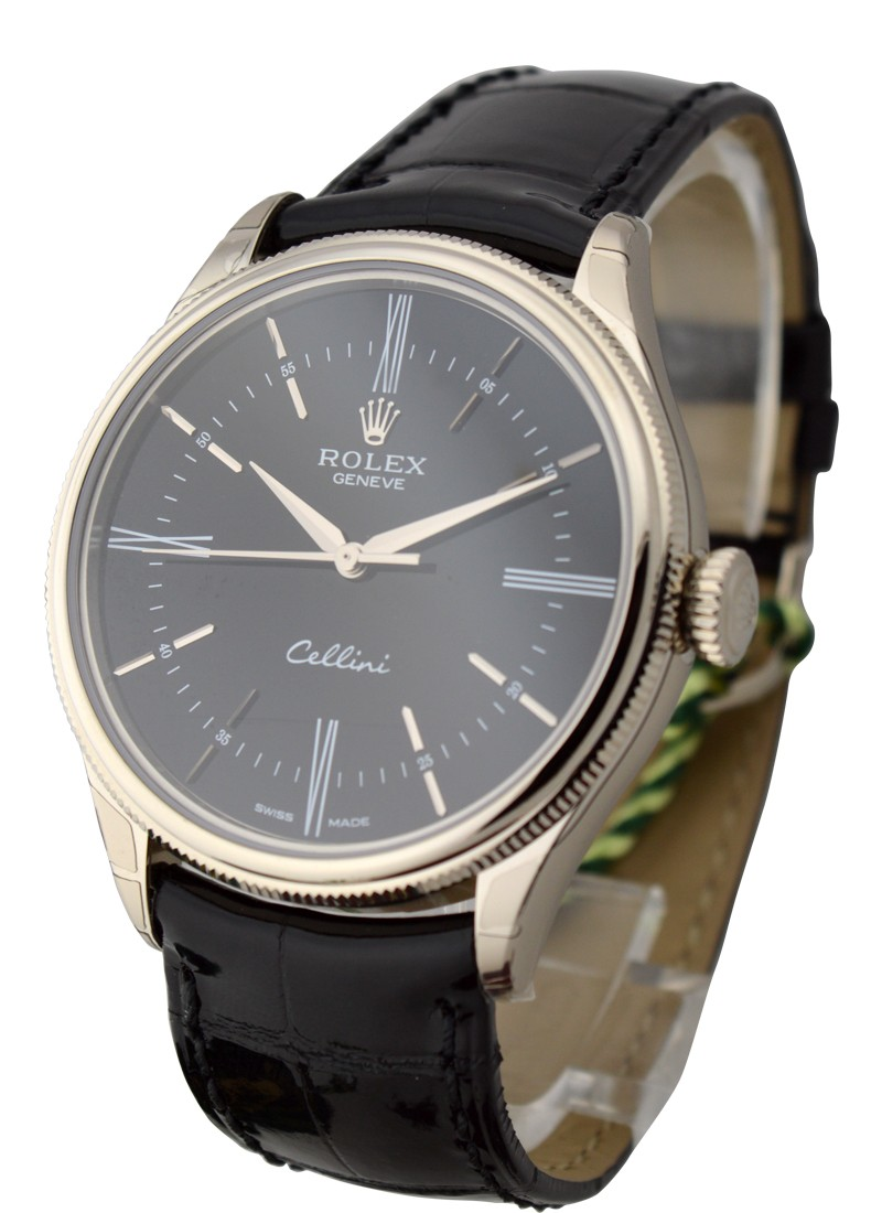 Rolex Unworn  Cellini Time 39mm in White Gold