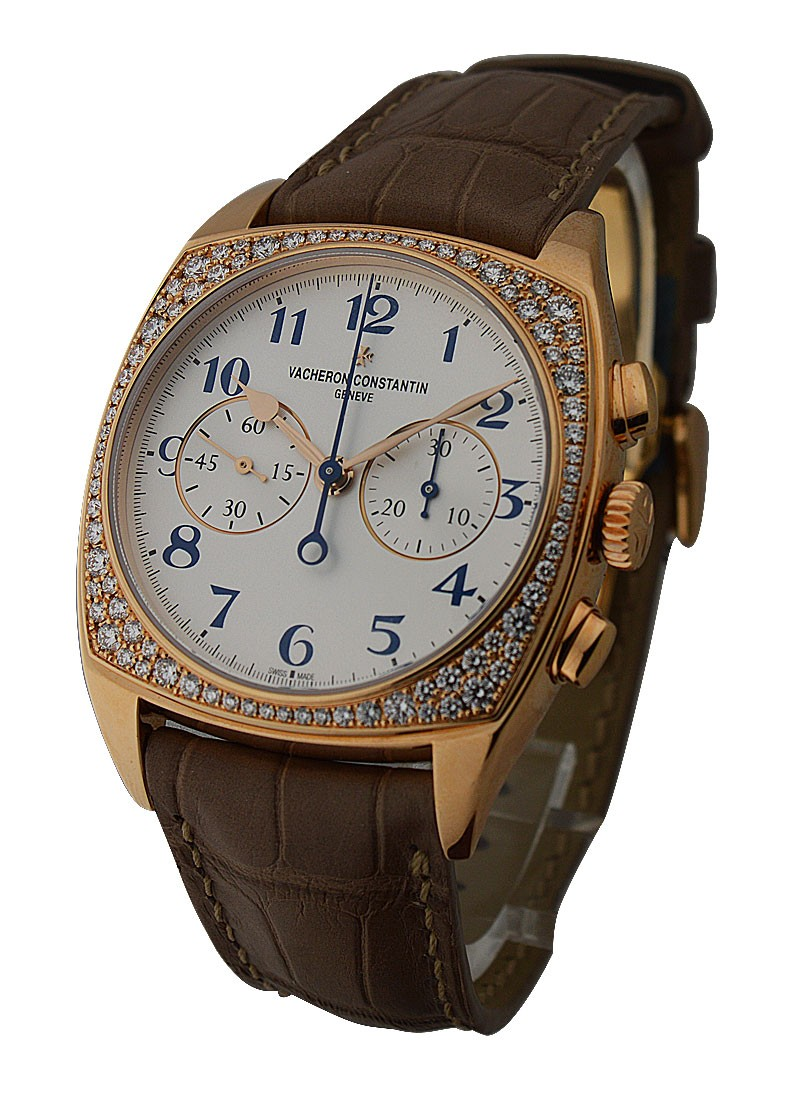 Vacheron Constantin Harmony Chronograph Small Ladies 37mm Manual   Roase Gold   Diamonds