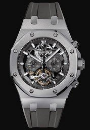 Audemars Piguet Royal Oak Tourbillon Chronograph Mens 44mm Manual in Titanium