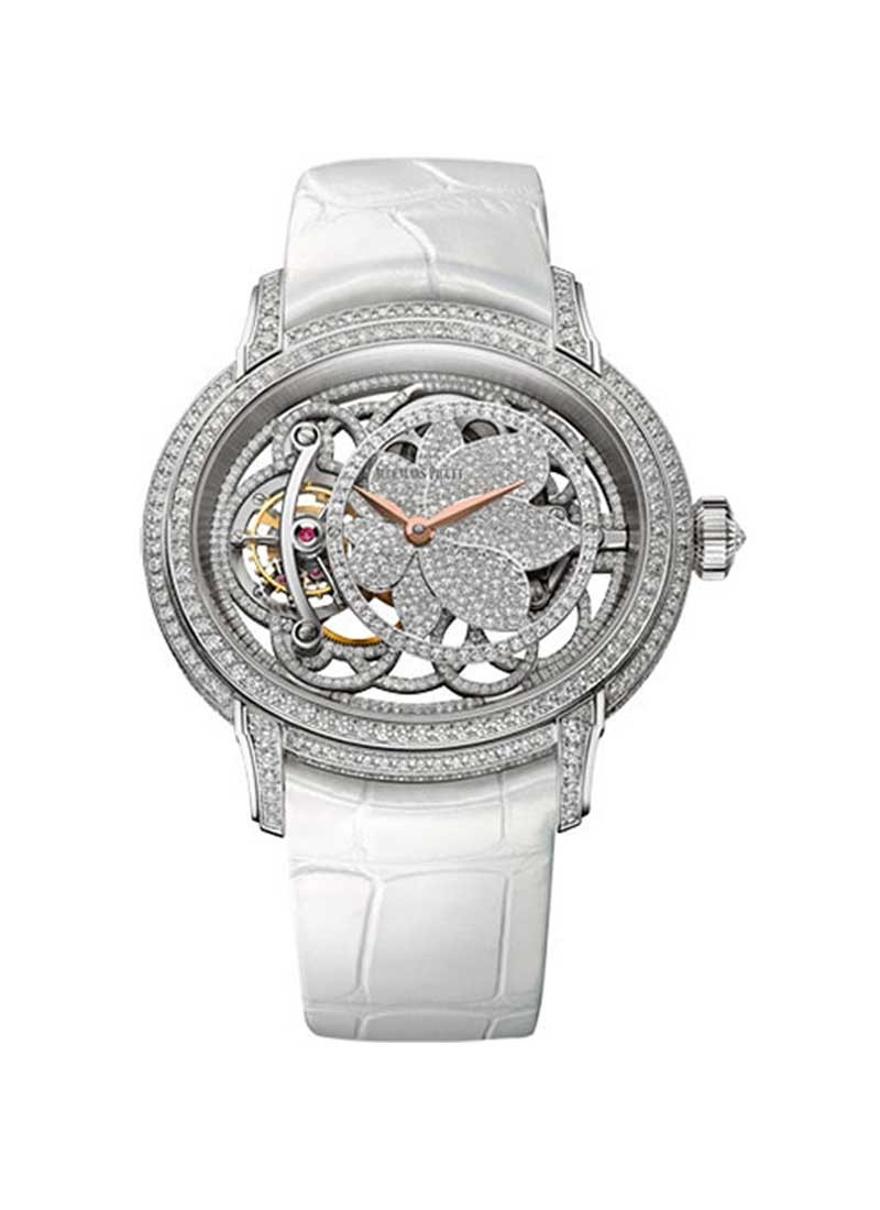 Audemars Piguet Millenary Tourbillon Ladies 45mm in White Gold with Diamond Bezel